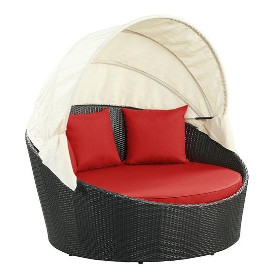 Daybed Rotan Sintetis Canopy