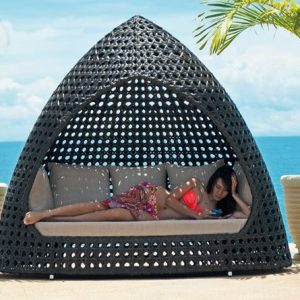 Gazebo Rotan Sintetis Anti UV