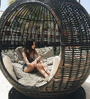 Daybed Oudoor Synthetic Rattan