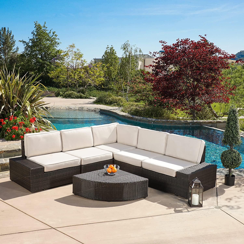 Sofa Rotan Sintetis Outdoor Black
